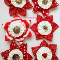 Prairie Point and Yo-yo Fabric Ornaments