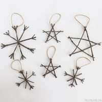 Rustic Twig Christmas Ornaments - Rustic Christmas Ideas!