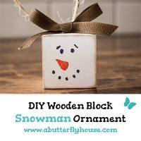 Simple DIY Snowman Ornaments