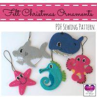 Felt Christmas Ornaments – Sea Animals