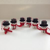 Wine Cork Snowmen Ornaments
