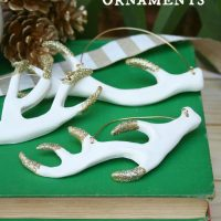 DIY Antler Ornaments