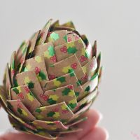 DIY Paper Pine Cone Christmas Ornaments