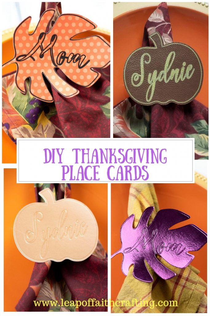 diy thanksgiving place cards pinterest