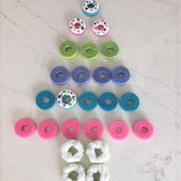 DIY Christmas Donut Ornaments: Using Pool Noodles