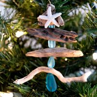 DIY Driftwood Christmas Tree Ornament