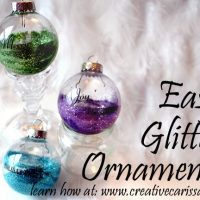 Make Easy Glittered Bulb Ornaments