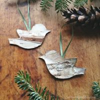 Birch Bird Ornaments