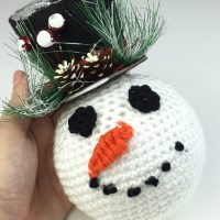 Crochet Snowman Ornament