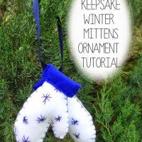 DIY Keepsake Mitten Ornaments Tutorial
