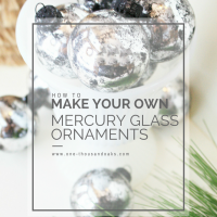 DIY: Mercury Glass Ornaments