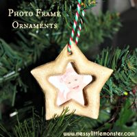 Salt Dough Ornament Star Photo Frame