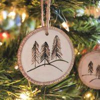 Simple Wood Burned Ornament