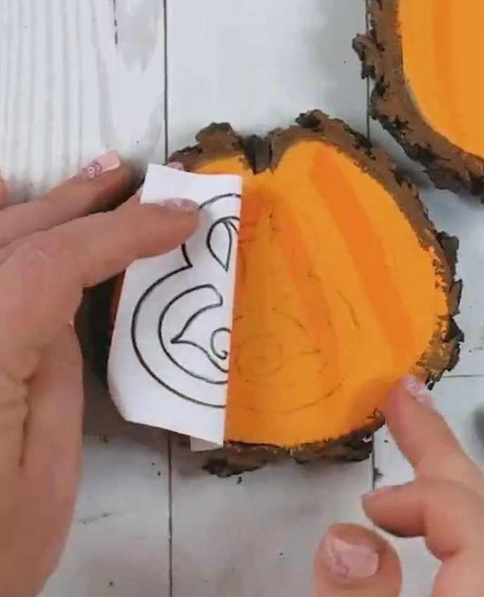 transferring letters to wood with pencil