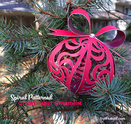 My Spiral Ornament for the Cricut Ornament Exchange | Try It