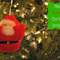 Tiny Santa Christmas Ornaments
