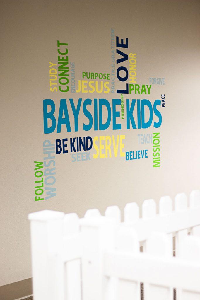 word art on wall