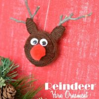 Christmas Yarn Craft: Reindeer Ornaments