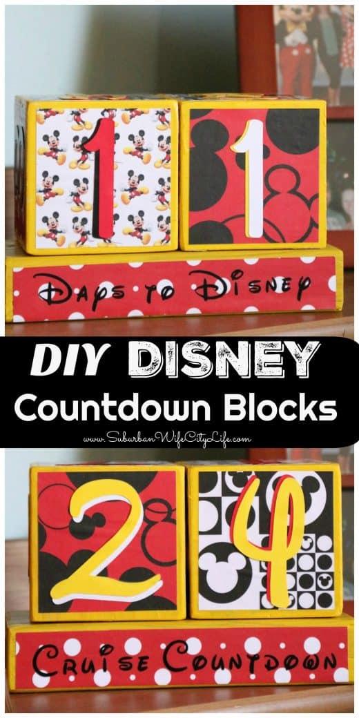 Disney Countdown Blocks