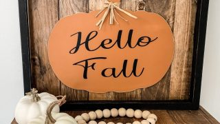 DIY Upcycled Frame Pumpkin Sign - Christina Faye Repurposed
