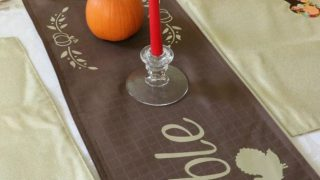 Gobble Gobble Thanksgiving Table Runner