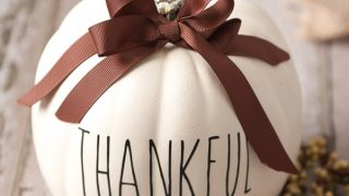 Adorable Cricut Thanksgiving Faux Pumpkin Craft