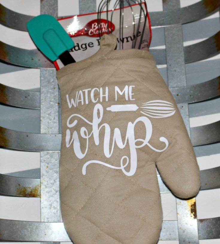 Watch Me Whip - Oven Mitt Gift Idea With Cricut Our Crafty Mom