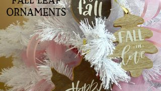 Wood Fall Leaf Ornaments