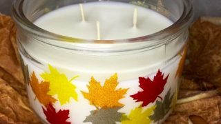 How to Decorate a Fall Candle with Transparent Glitter Vinyl | Try It