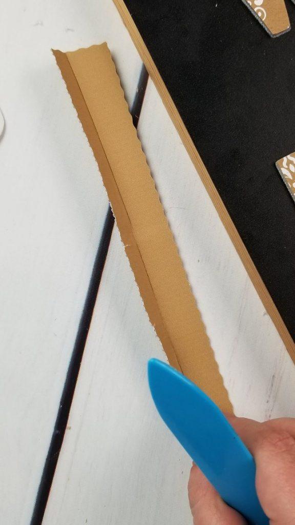 corrugated cardboard wavy blade