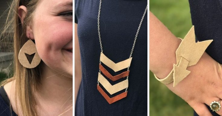 DIY Leather Jewelry Set with Cricut Explore Air 2