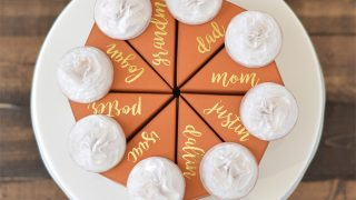 Mini Pie Box Thanksgiving Place Cards