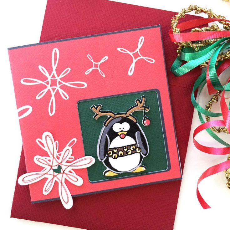 Make a Funny Penguin Christmas Card