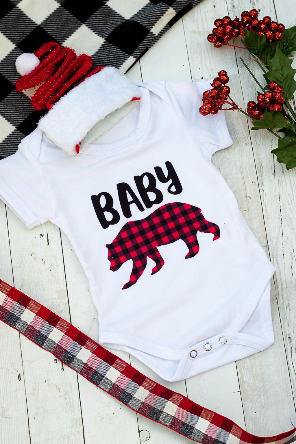 baby bear onesie svg