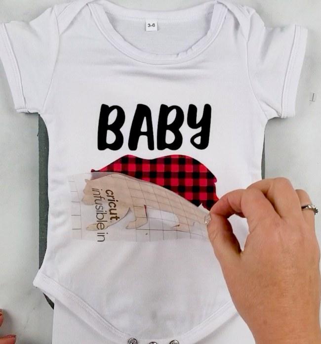 baby bear svg onesie