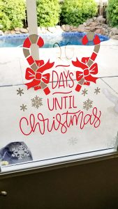 cricut window clings christmas