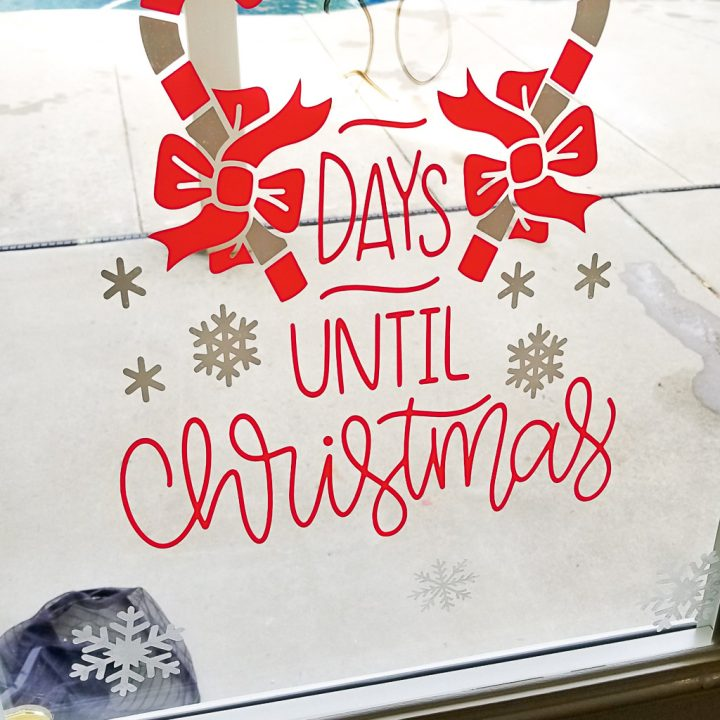 Window Clings Cricut: Easy Christmas Countdown Window Decor