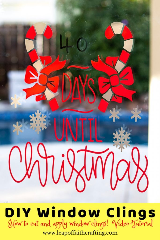 diy christmas window clings cricut