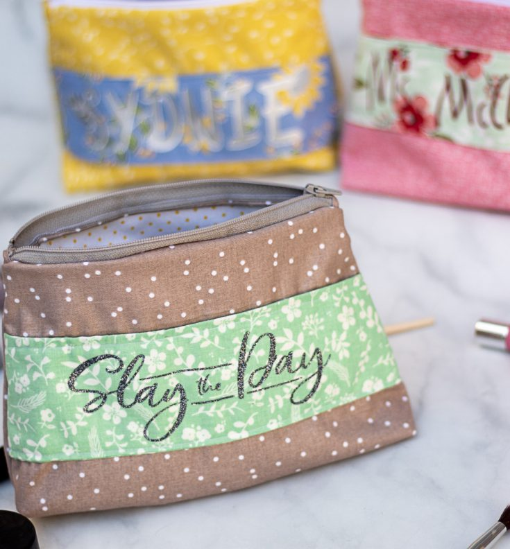 Personalized Makeup Bags With a Cricut Maker!