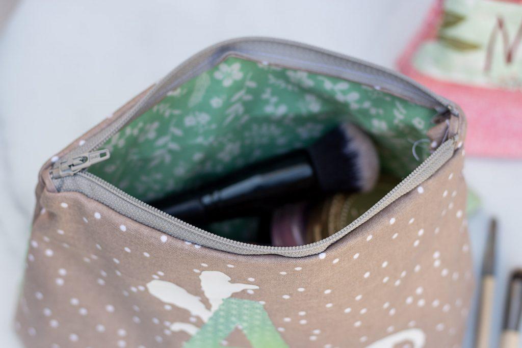 diy personalised makeup bags