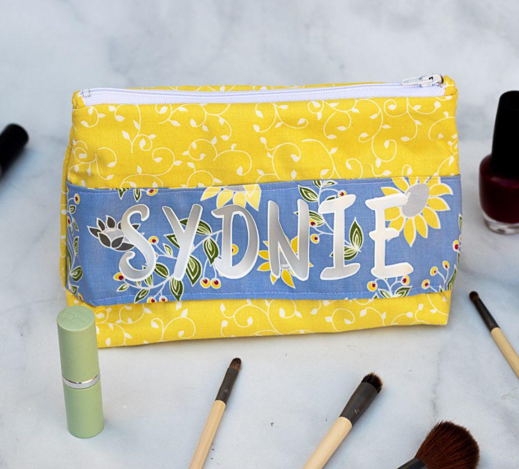 diy personalized makeup bags