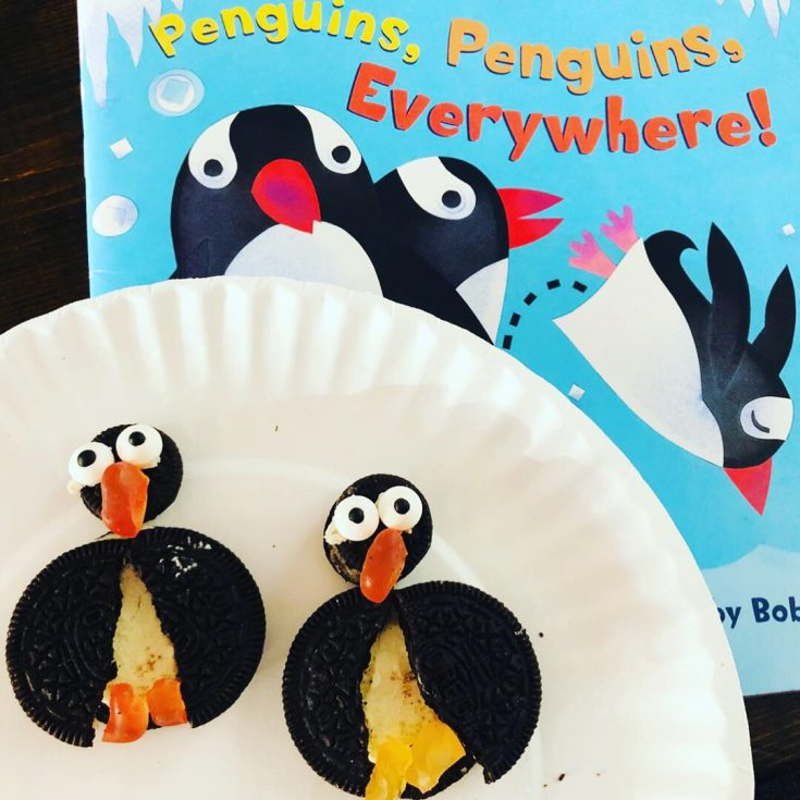 Penguin Cookies Edible Book Craft