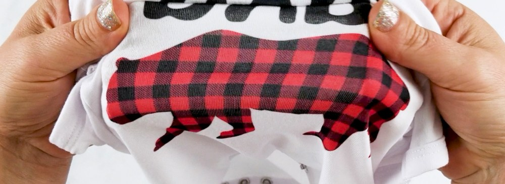 infusible ink onesie buffalo plaid