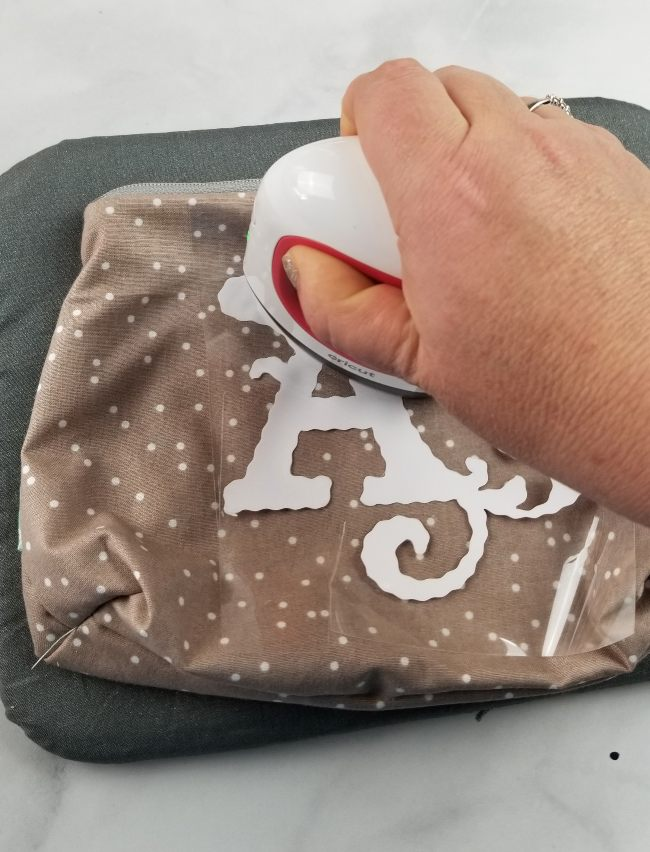monogram pouch
