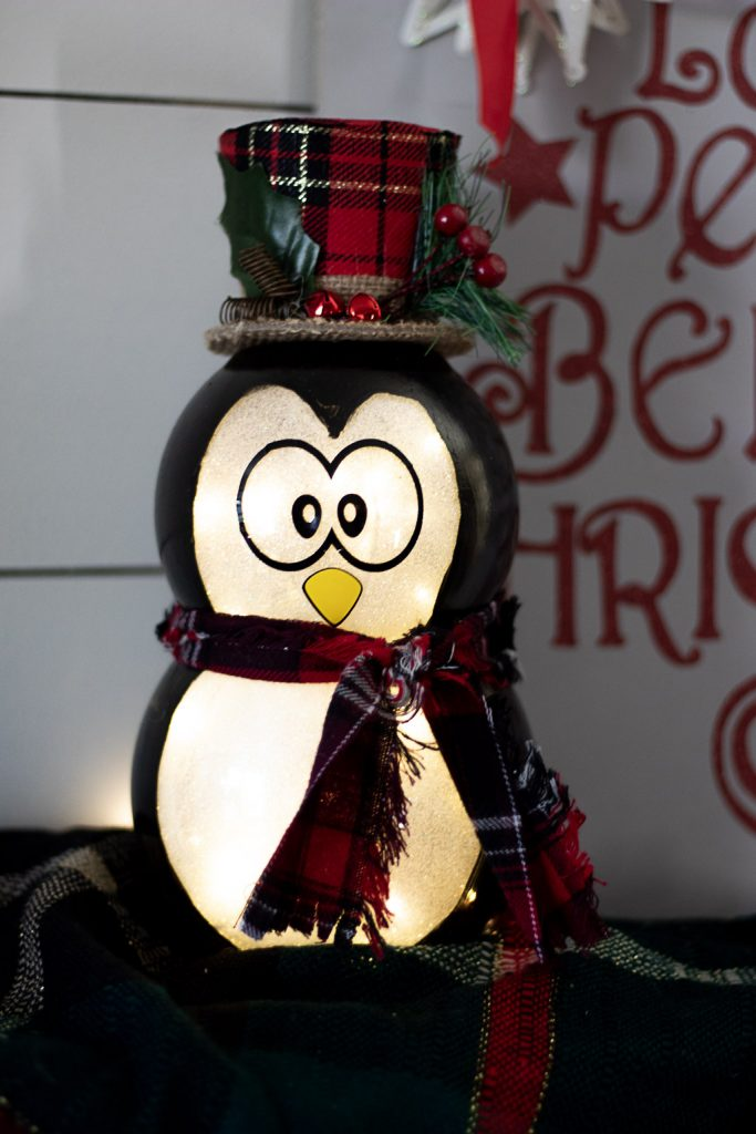 penguin christmas decoration diy
