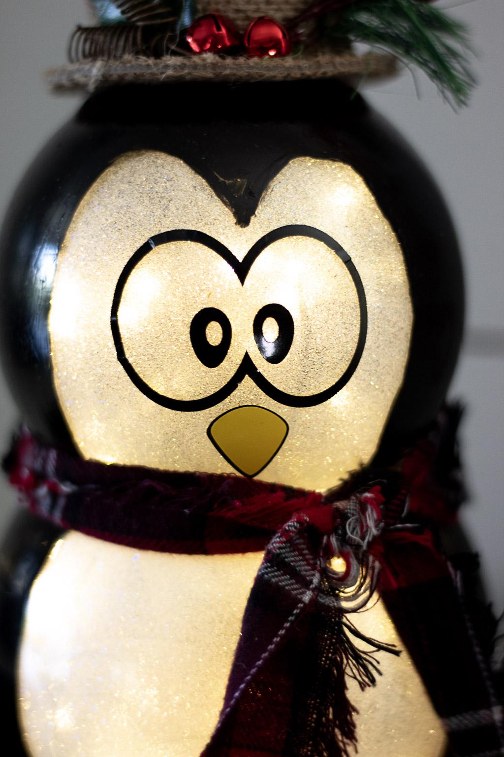 penguin christmas decoration diy