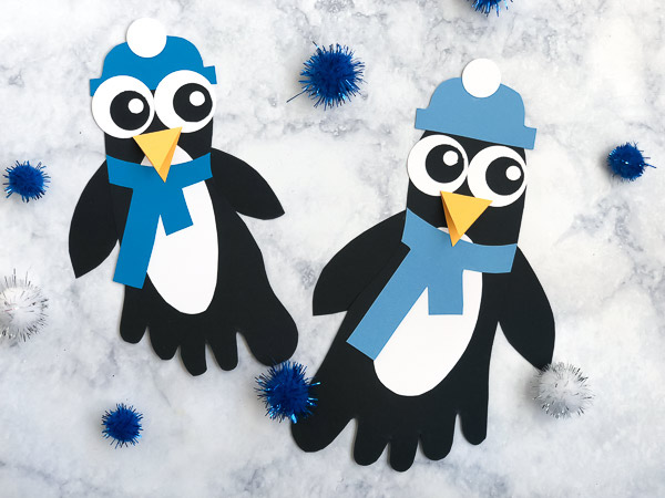 A Cute Footprint Penguin Craft For Kids