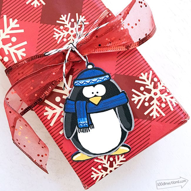 Penguin Gift Tag Ornaments DIY