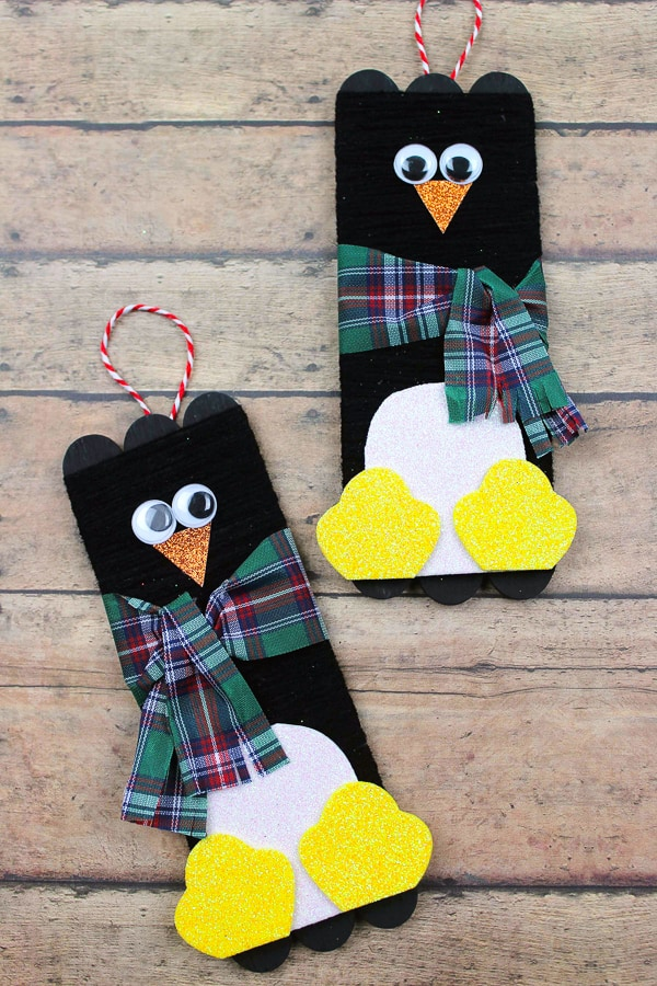 Penguin Popsicle Stick Craft for Kids