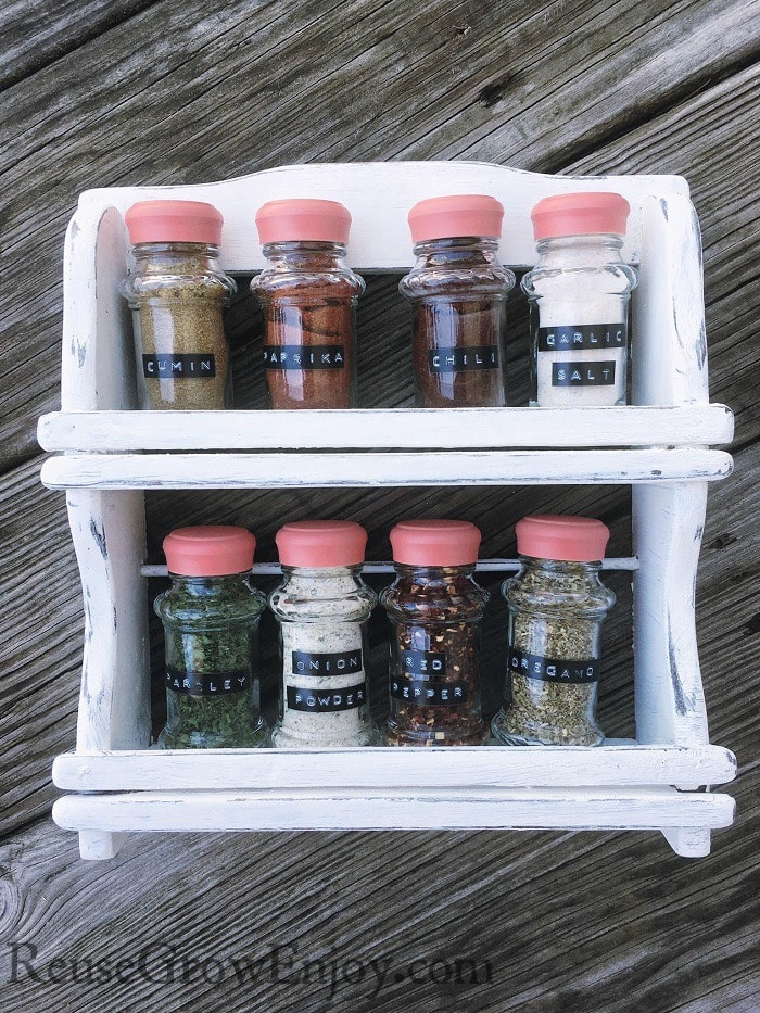 DIY Spice Rack Makeover - Change It To Fit Your Style